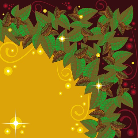 folk tales: Mysterious floral background with sparkles