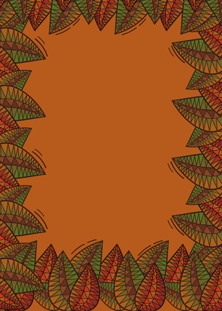 folk tales: Floral background with stylized leaves clip art