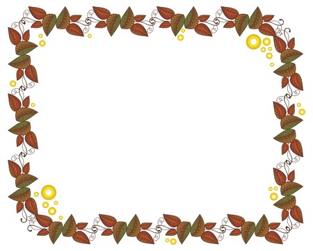 folk tales: frame with autumn leaves