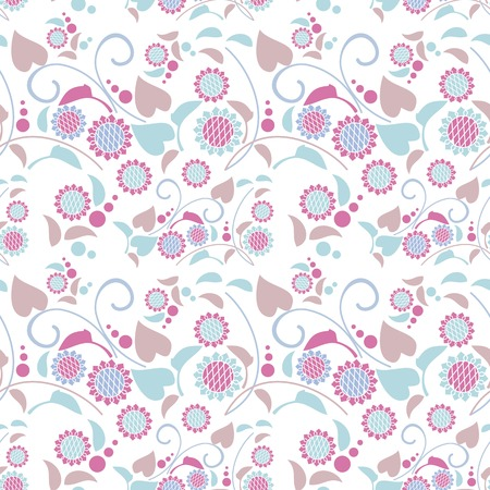 allover: Seamless pattern with decorative sunflowers. Vector clip art.