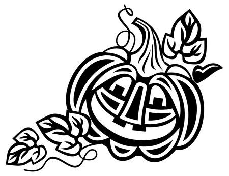 jack'o'lantern: Halloween decoration Jack-o-Lantern silhouette.  Vector clip art.
