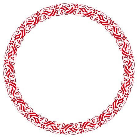 motive: Ornamental round frame with east motive. Design element for advertisements, flyer, web, wedding and other invitations or greeting cards. Vector clip art.