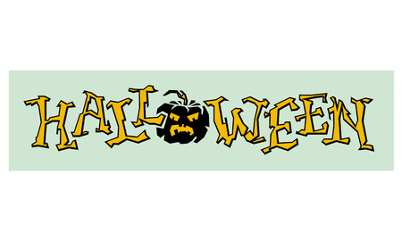 single word: Halloween single word. Original written word for greeting cards and invitations. Vector clip art. Illustration