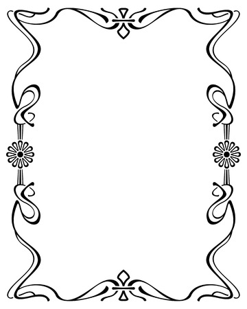 Abstract elegant frame. Design element for advertisements, banners, labels, prints, posters, web, presentation, invitations, weddings, greeting cards, albums. Vector clip art. Vector Illustration