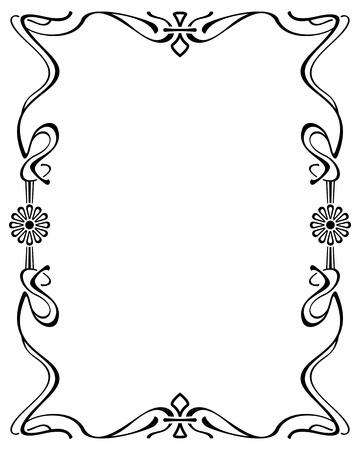 Zusammenfassung eleganten Rahmen. Design-Element für Anzeigen, Banner, Etiketten, Drucke, Poster, Web-, Präsentations-, Einladungen, Hochzeiten, Grußkarten, Alben. Vector Clip Art. Vektorgrafik