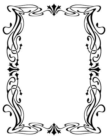 Zusammenfassung eleganten Rahmen. Design-Element für Anzeigen, Banner, Etiketten, Drucke, Poster, Web-, Präsentations-, Einladungen, Hochzeiten, Grußkarten, Alben. Vector Clip Art.