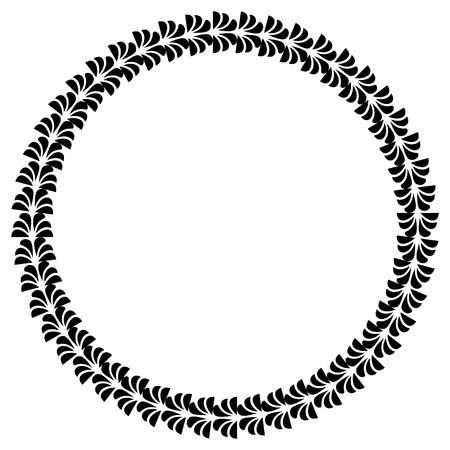 black and white round frame design element banners labels