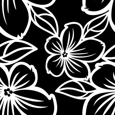 allover: Seamless flower pattern. Beautiful background for banners, labels, posters, web, invitations, weddings, greeting cards, albums. Vector clip art.