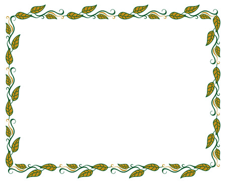 horizontal, color, decorative, leaves, Vector, 'clip art', art, background, designs, decorative, deco, drawing, elegant, elements, isolated, ivy, curly, copy, text, silhouette, ornament, swirls, western,label, photoframe, frame, floral, flourish, tags, Vektorové ilustrace