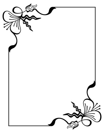 Silhouette flower frame simple black and white frame with abstract silhouette flower frame simple black and white frame with abstract flowersctor clip art mightylinksfo