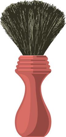 Shaving brush of traditional design. Vector clip art.