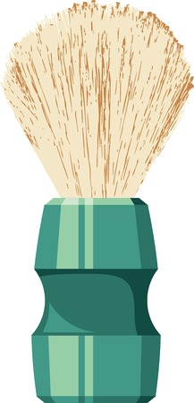 shaving brush: Shaving brush of traditional design. Vector clip art.