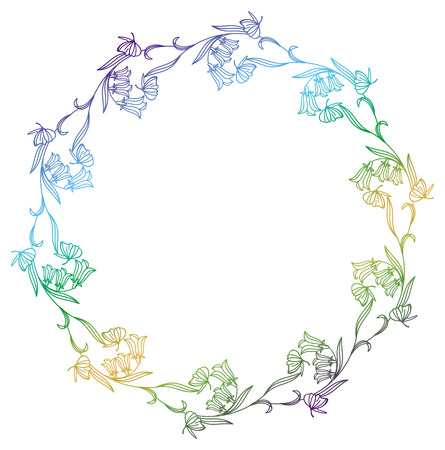 butterflies for decorations: Decorative gradient frame with empty space for text or picture. Round frame suitable for different greeting cards, invitations, backgrounds, prints. Raster clip art Stock Photo