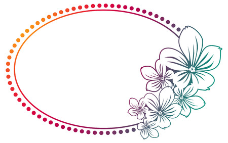 paddys day: Abstract silhouette oval round frame with gradient fill. Color gradient frame for advertisements, web, invitations or greeting cards. Raster clip art.