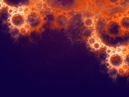 Abstract background with fractal bubbles. Design element for brochure, advertisements, flyer, web and other graphic designer works. Digital collage. Raster clip art. Stock Photo