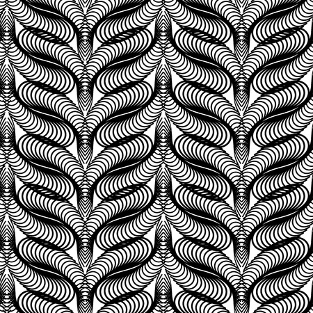 Print design: Abstract black and white pattern. Seamless guilloche background for diploma and certificate. Vector clip art.