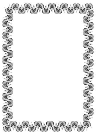 Schwarz-Weiß-abstrakte Vertikale Rahmen. Guilloche Grenze Für ...