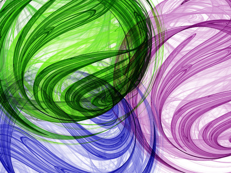 Abstract background. Fractal swirls, circles. Design element for graphics artworks. Digital collage.