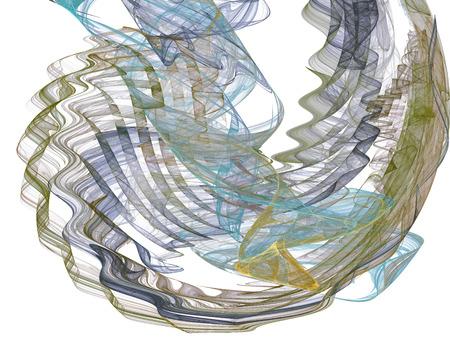 artworks: Abstract background. Fractal swirls, circles. Design element for graphics artworks. Digital collage.