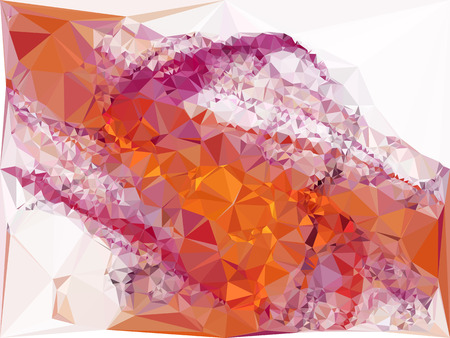 Abstract multicolor mosaic backdrop. Geometric low polygonal background. Design element for posters, business cards, presentations layouts, showcases. Raster clip art.