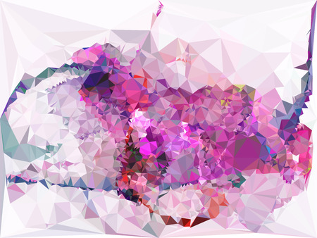 Abstract multicolor mosaic backdrop. Geometric low polygonal background. Design element for posters, business cards, presentations layouts, showcases. Vector clip art.