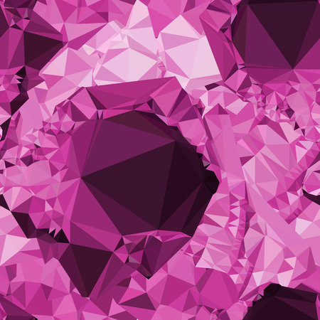 Seamless pattern with sparkling purple jewels. Vector clip art.