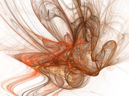 Abstract smoke swirls. Fractal illustration. Digital collage.