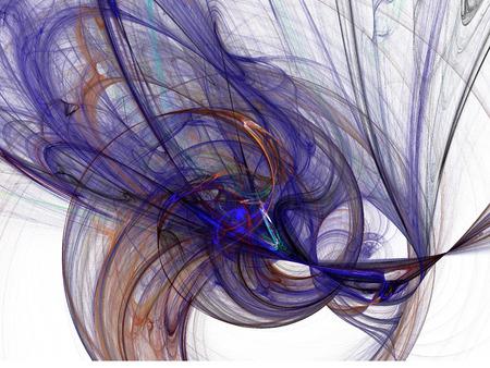 抽象の煙が渦巻く。フラクタル図。デジタルのコラージュ。