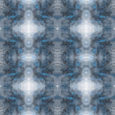 Seamless kaleidoscope pattern. Vector clip art.