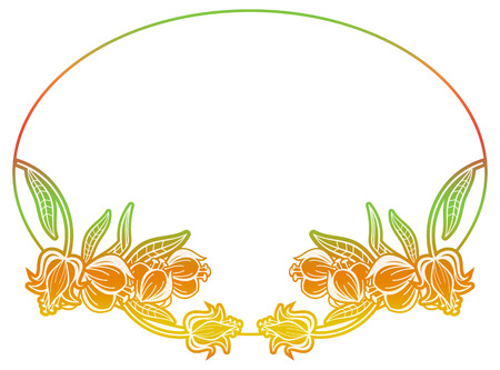 mixed marriage: Beautiful round gradient frame. Color silhouette frame for advertisements, wedding and other invitations or greeting cards. Raster clip art.