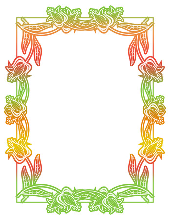 Beautiful gradient frame. Color silhouette frame for advertisements, wedding and other invitations or greeting cards. Raster