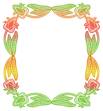 mixed marriage: Beautiful gradient frame. Color silhouette frame for advertisements, wedding and other invitations or greeting cards. Raster