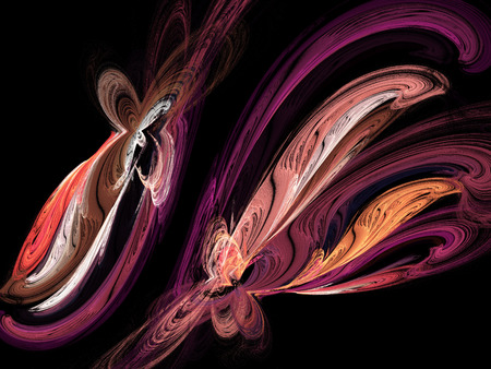 Abstract fractal background. Design element for graphics artworks. Digital collage.