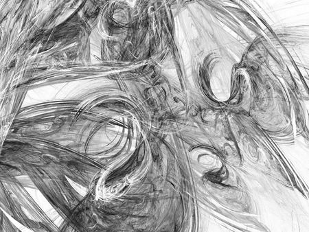 Grayscale fractal background can be used as an alpha channel for video and design projects. Digital collage. Stock Photo