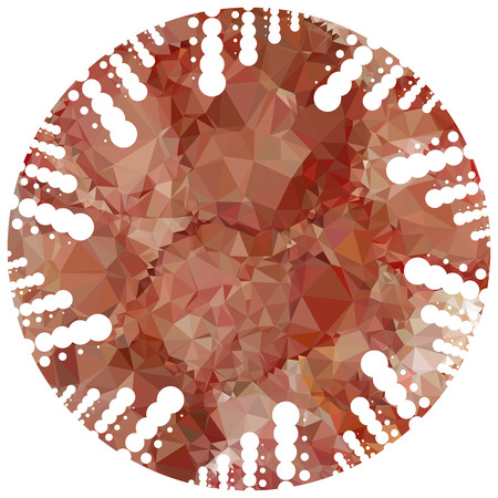 digital printing: Abstract mosaic round label. Copy space. Vector clip art. Illustration