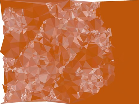 Mosaic backdrop with triangles. Abstract geometric low polygonal background. Design element for book covers, presentations layouts, title backgrounds. Vector clip art.