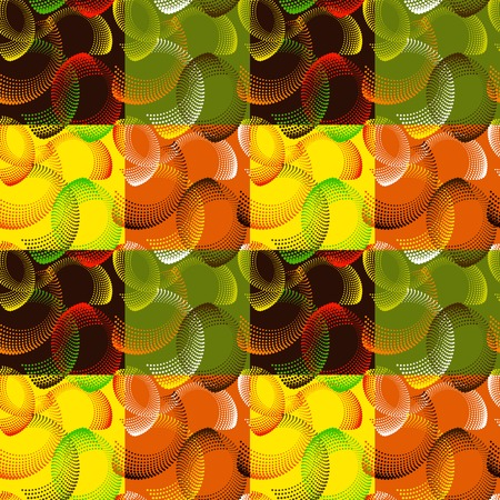 Colorful abstract seamless pattern. Repeating geometric shapes.