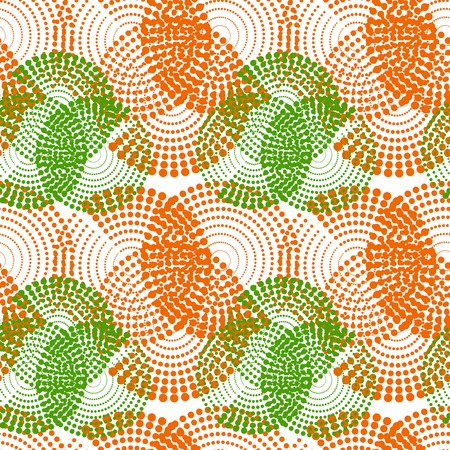 Colorful abstract halftone seamless pattern. Repeating geometric tiles. Vector clip art. Illustration