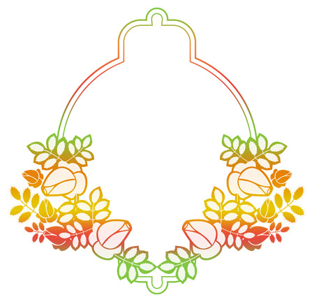 Beautiful gradient frame. Color silhouette frame for advertisements, wedding and other invitations or greeting cards. Raster clip art.