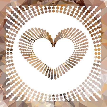 mosaic: Heart mosaic background. Valentine ornament. Vector clip art.