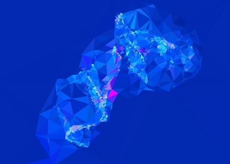 diamond plate: Geometric low polygonal background. Illustration