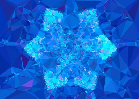 diamond plate: Geometric low polygonal background. Abstract mosaic backdrop in blue color. Design element for book covers, presentations layouts, title backgrounds. Vector clip art.