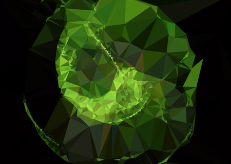 diamond plate: Abstract mosaic backdrop in green color
