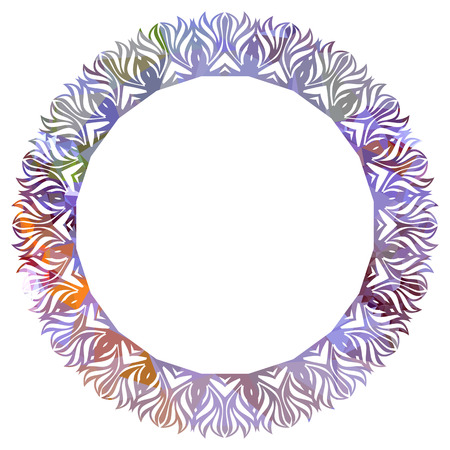 Luxurious abstract round frame. Copy space. Beautiful background for your artwork. Vector clip art.