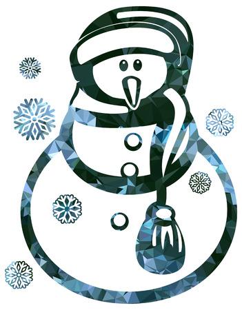 Snowman icon illustration.