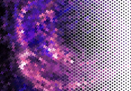 Abstract background with stars. Halftone effect. Vector clip art.