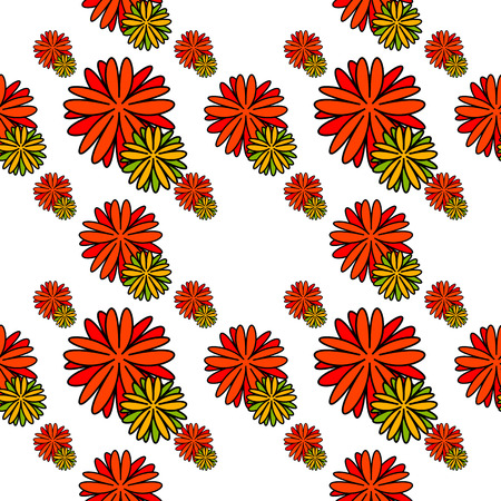 Seamless floral pattern. Abstract decorative flowers silhouettes. Vector clip art.