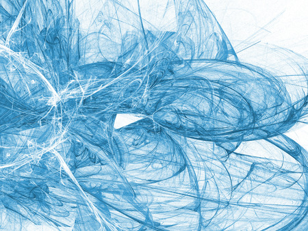 Blue color toned monochrome abstract fractal illustration. Design element for book covers, presentations layouts, title and page backgrounds.Raster clip art.