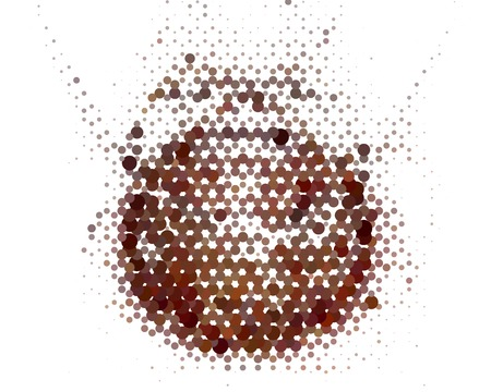Abstract background. Spotted halftone effect. Dots, circles.
