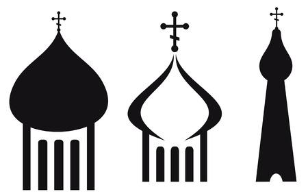 Silhouette of orthodox domes icon. Ilustração Vetorial